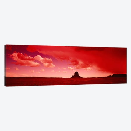 Stormy Desert Landscape With Red Filter, Utah, USA Canvas Print #PIM2152} by Panoramic Images Art Print