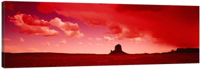 Stormy Desert Landscape With Red Filter, Utah, USA Canvas Print #PIM2152