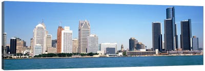 Skyline Detroit MI USA Canvas Art Print