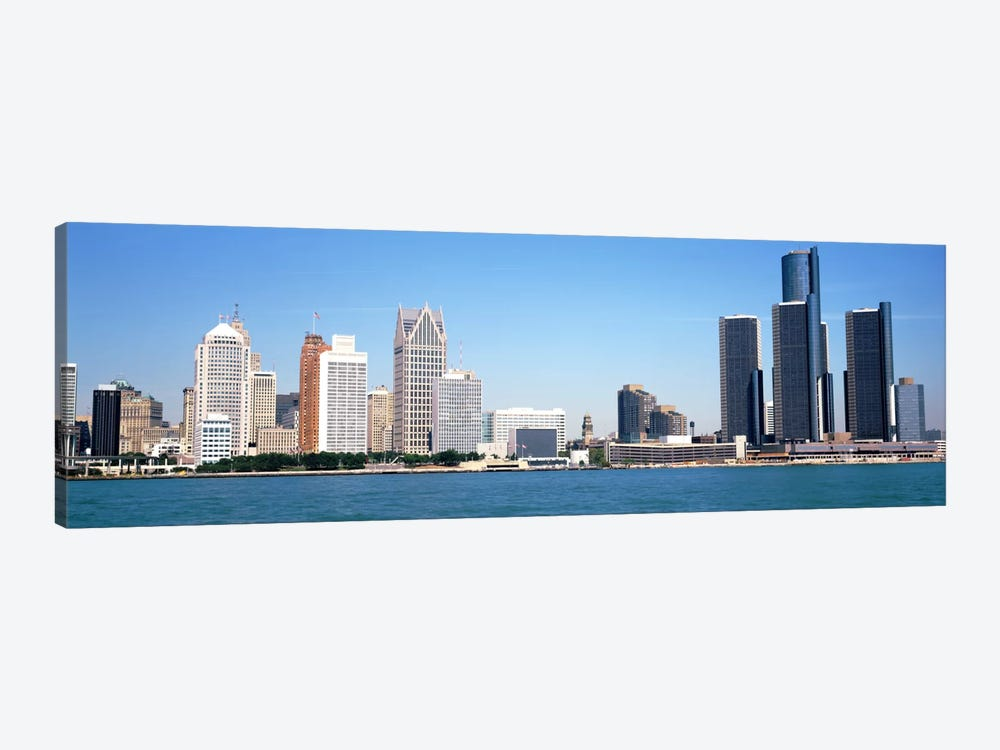 Skyline Detroit MI USA by Panoramic Images 1-piece Canvas Print