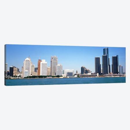 Skyline Detroit MI USA Canvas Print #PIM2153} by Panoramic Images Art Print