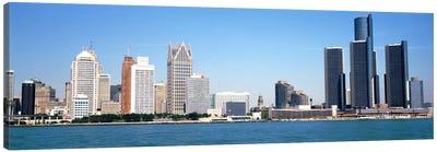 Skyline Detroit MI USA Canvas Art Print