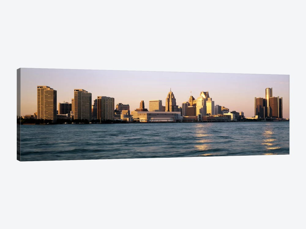 Skyline Detroit MI USA by Panoramic Images 1-piece Canvas Wall Art