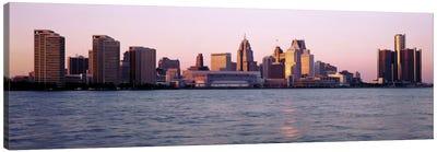 Skyline Detroit MI USA Canvas Print #PIM2155