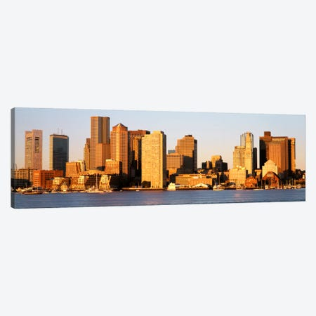 SunriseSkyline, Boston, Massachusetts, USA Canvas Print #PIM2156} by Panoramic Images Canvas Art