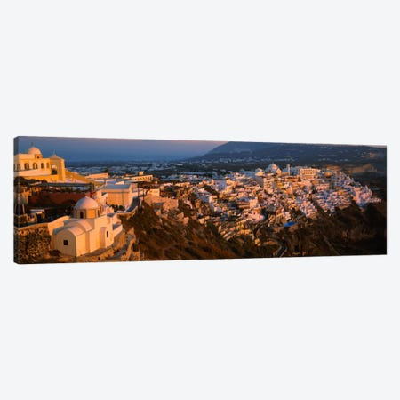 High angle view of buildings in a townFira, Santorini, Cyclades Islands, Greece Canvas Print #PIM2163} by Panoramic Images Canvas Wall Art