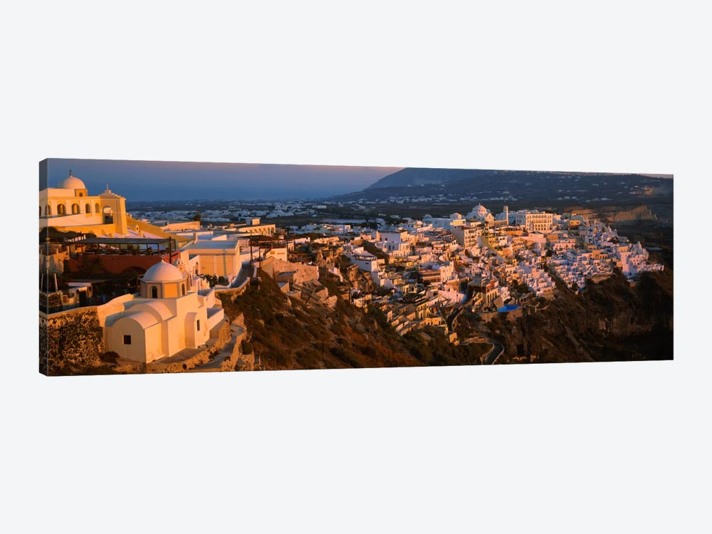 High angle view of buildings in a townFira, Santorini, Cyclades Islands, Greece by Panoramic Images 1-piece Canvas Artwork