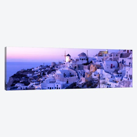 Evening Twilight, Oia, Santorini, Cyclades, Greece Canvas Print #PIM2167} by Panoramic Images Canvas Print