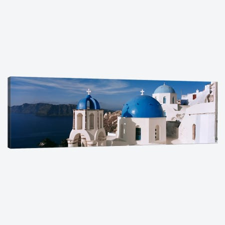 High Angle View of A ChurchChurch of Anastasis, Fira, Santorini, Greece Canvas Print #PIM2168} by Panoramic Images Canvas Art