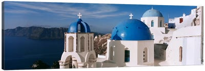 High Angle View of A ChurchChurch of Anastasis, Fira, Santorini, Greece Canvas Print #PIM2168