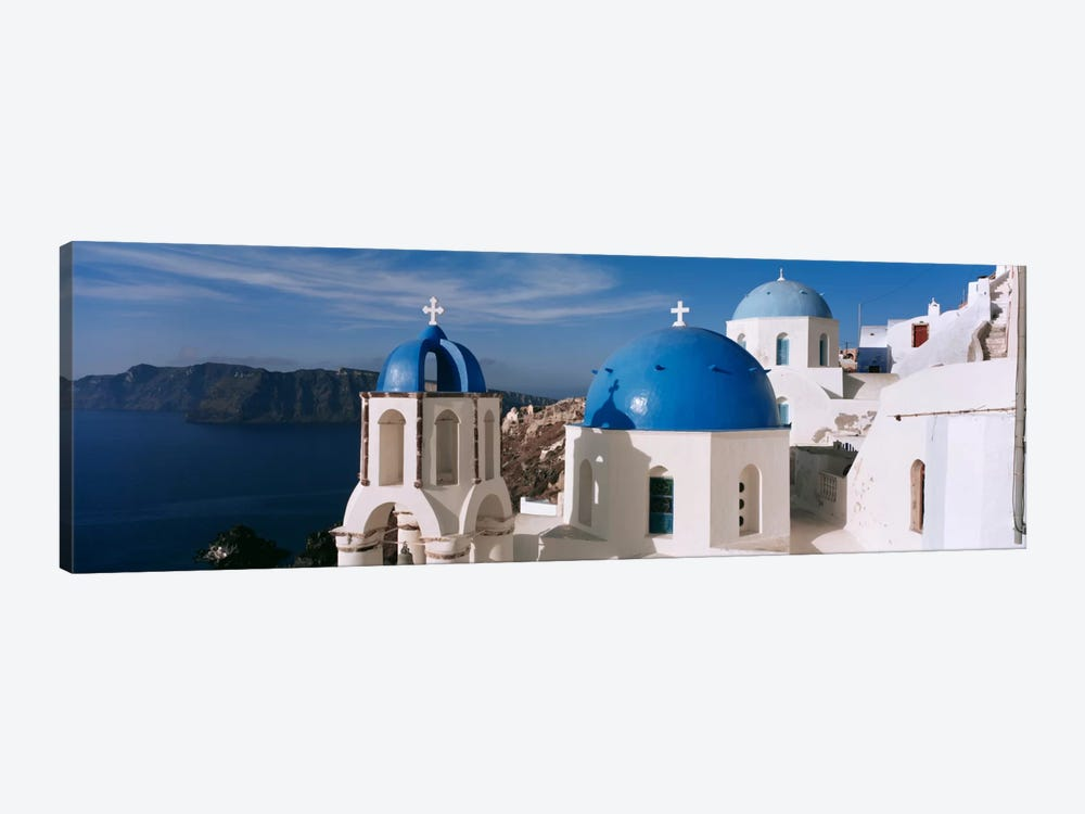 High Angle View of A ChurchChurch of Anastasis, Fira, Santorini, Greece by Panoramic Images 1-piece Canvas Art Print
