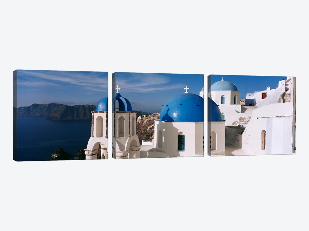 High Angle View of A ChurchChurch of Anastasis, Fira, Santorini, Greece by Panoramic Images 3-piece Art Print