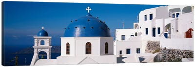 GreeceSantorini, Fira, Church of Anastasis, Blue dome on a Church Canvas Art Print