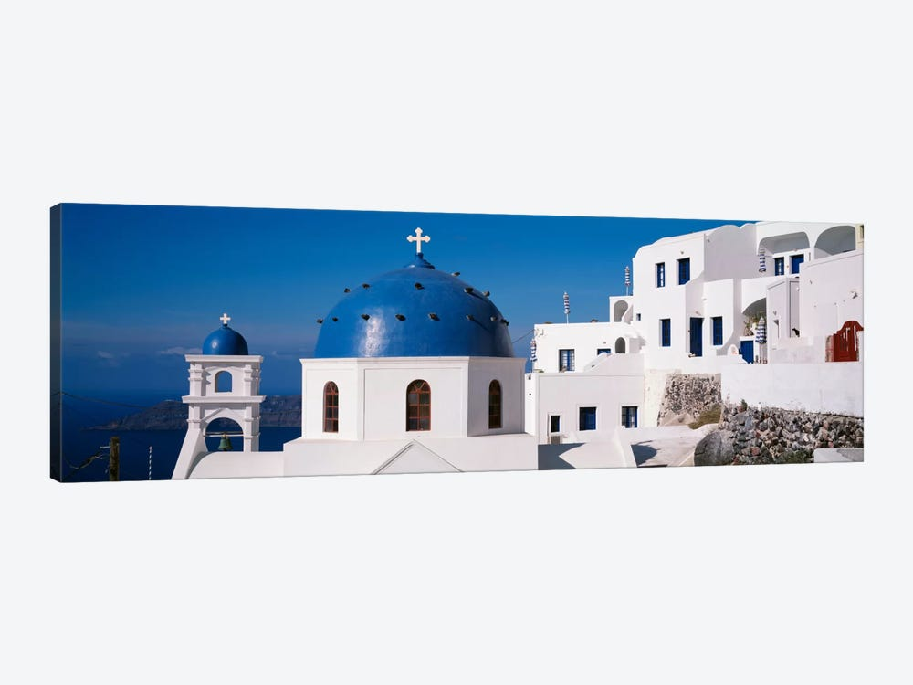 GreeceSantorini, Fira, Church of Anastasis, Blue dome on a Church by Panoramic Images 1-piece Canvas Wall Art