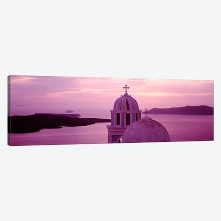 Silhouette of A ChurchSantorini Church, Greece Canvas Print #PIM2170} by Panoramic Images Canvas Art Print