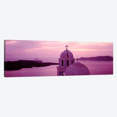 Silhouette of A ChurchSantorini Church, Greece Canvas Print #PIM2170} by Panoramic Images Canvas Art Print
