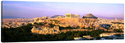 Aerial View Featuring The Acropolis Of Athens, Greece Canvas Art Print