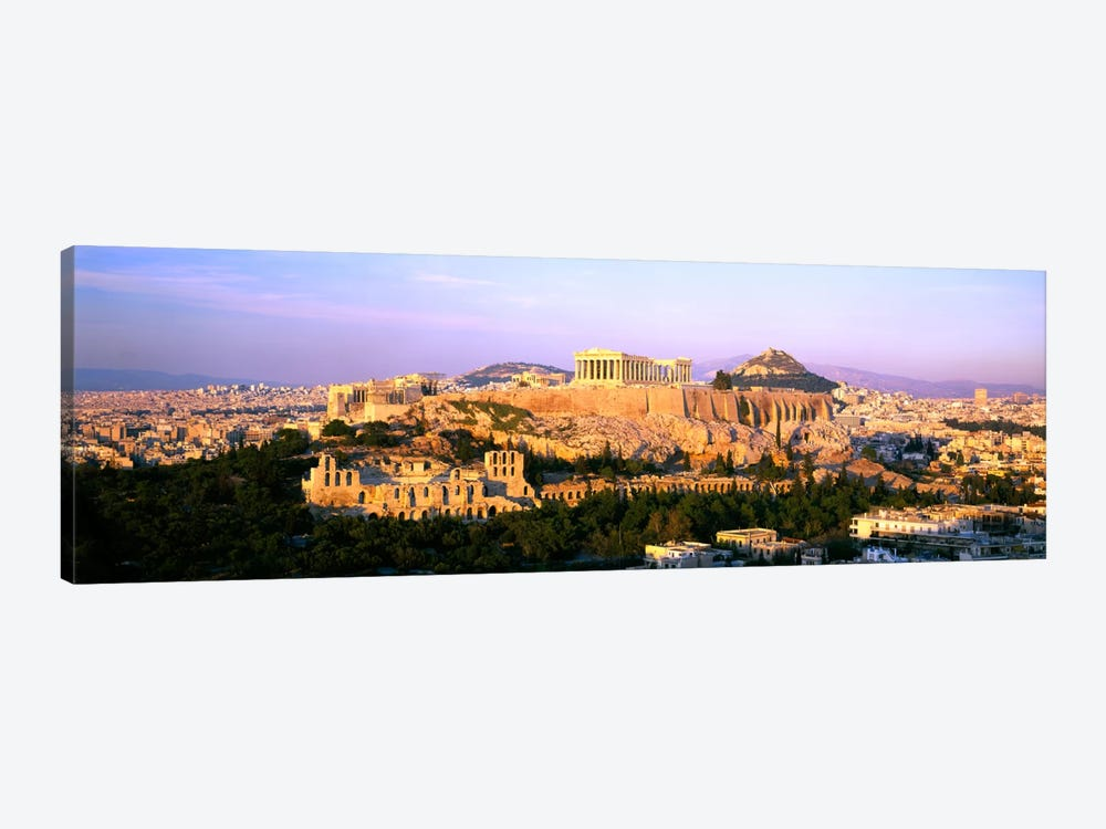 Aerial View Featuring The Acropolis Of Athens, Greece by Panoramic Images 1-piece Canvas Artwork