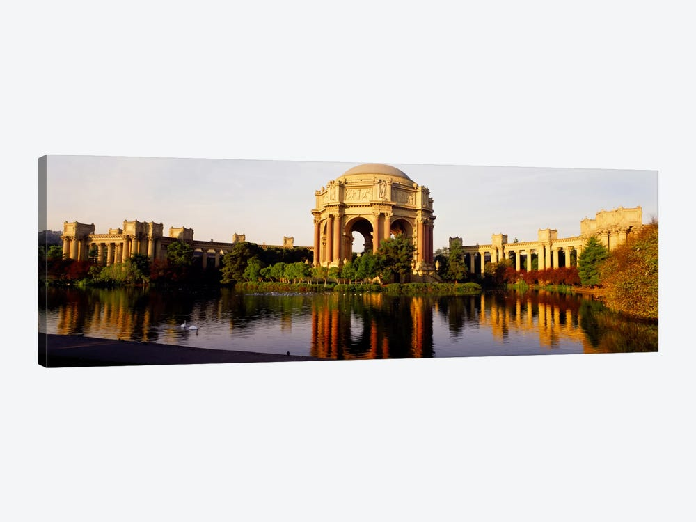 Buildings at the waterfront, Palace of Fine Arts, San Francisco, California, USA by Panoramic Images 1-piece Canvas Art Print
