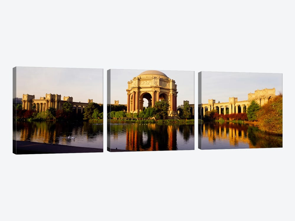 Buildings at the waterfront, Palace of Fine Arts, San Francisco, California, USA by Panoramic Images 3-piece Art Print