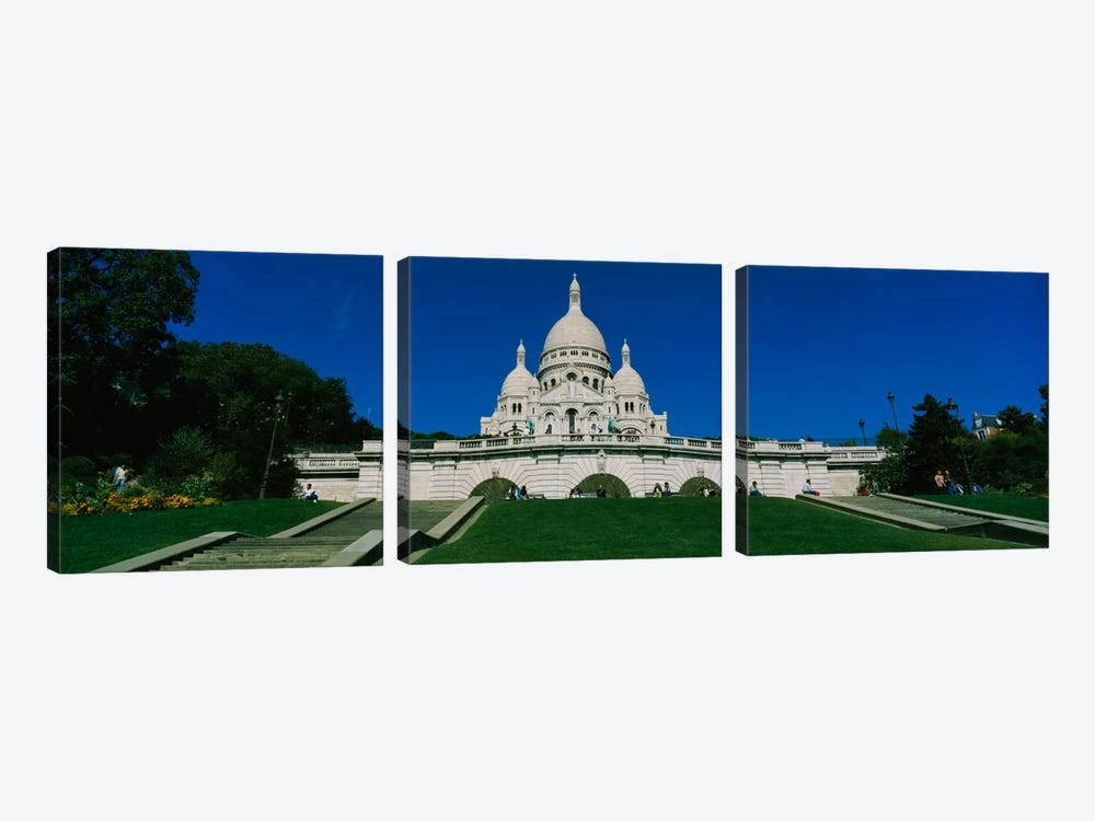 Facade of a basilica, Basilique Du Sacre Coeur, Paris, France by Panoramic Images 3-piece Canvas Wall Art