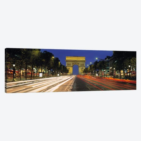 Arc de Triomphe, Paris, Ile-de France, France Canvas Print #PIM2186} by Panoramic Images Canvas Print