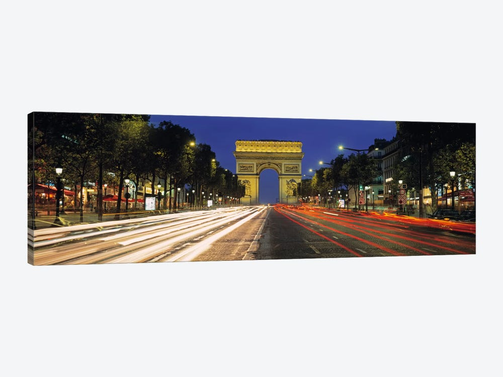Arc de Triomphe, Paris, Ile-de France, France by Panoramic Images 1-piece Canvas Print