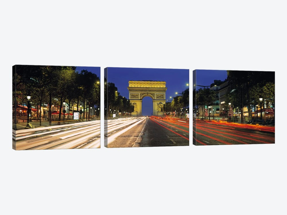 Arc de Triomphe, Paris, Ile-de France, France 3-piece Art Print