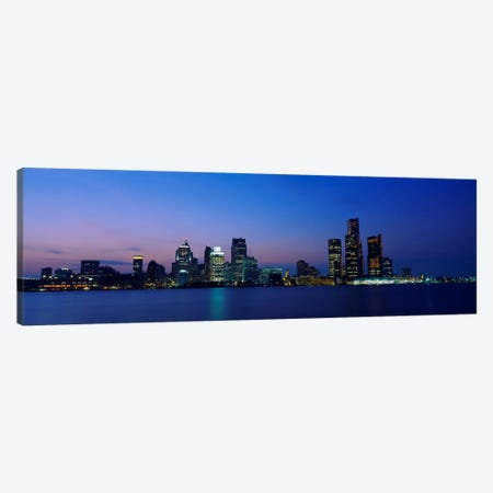 Buildings at the waterfront, Detroit, Michigan, USA #2 Canvas Print #PIM2191} by Panoramic Images Canvas Art Print