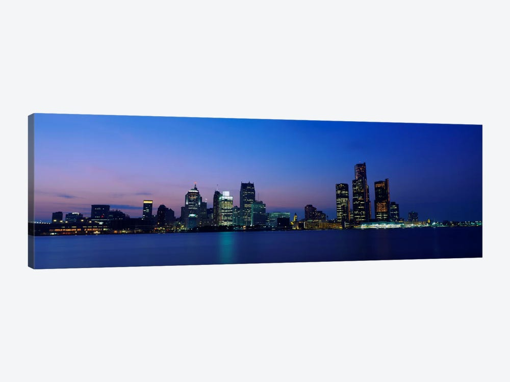 Buildings at the waterfront, Detroit, Michigan, USA #2 by Panoramic Images 1-piece Art Print