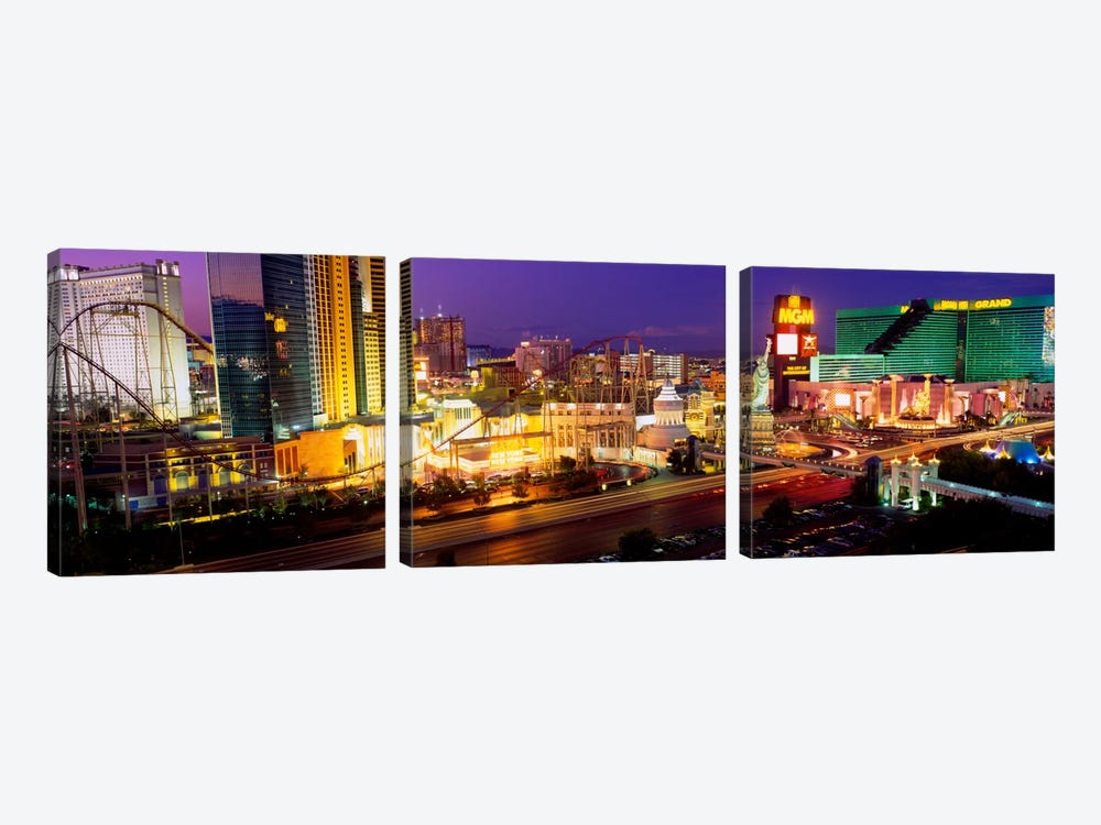 High angle view of a city, Las Vegas, Nevada, USA by Panoramic Images 3-piece Canvas Wall Art