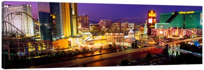 High angle view of a city, Las Vegas, Nevada, USA Canvas Art Print