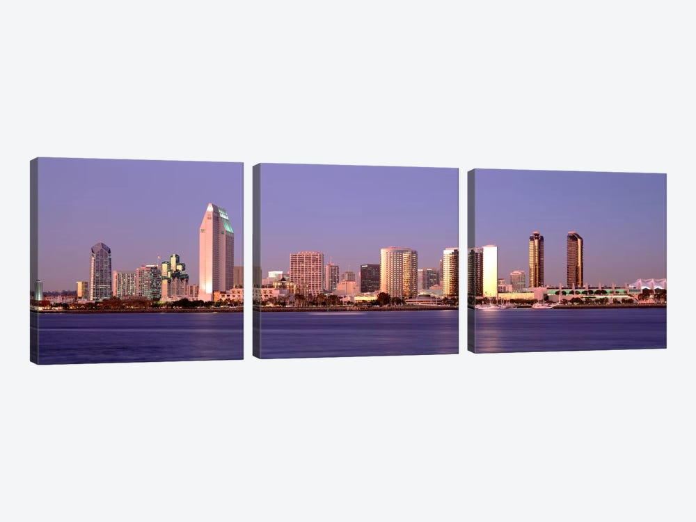 Buildings in a city, San Diego, California, USA #2 by Panoramic Images 3-piece Canvas Art Print