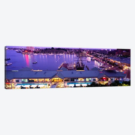 Buildings at a harbor, Inner Harbor, Baltimore, Maryland, USA Canvas Print #PIM2194} by Panoramic Images Canvas Wall Art