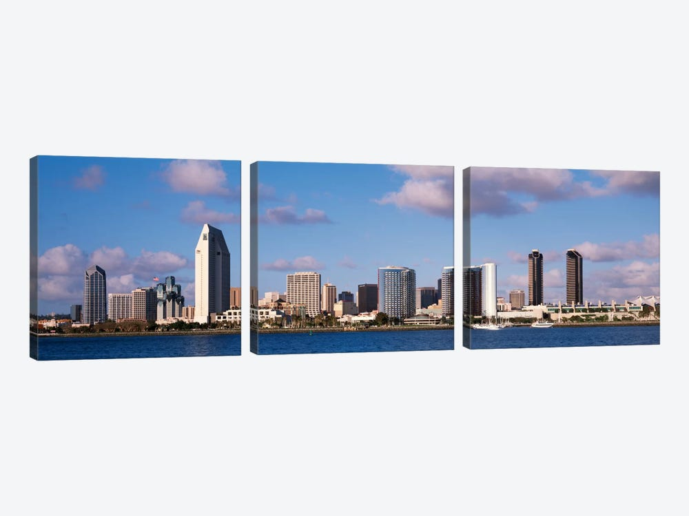 Buildings in a citySan Diego, California, USA by Panoramic Images 3-piece Canvas Art Print