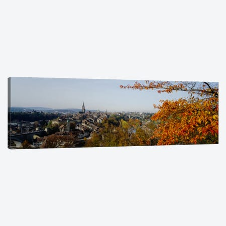 High angle view of buildings, Berne Canton, Switzerland Canvas Print #PIM2196} by Panoramic Images Canvas Artwork