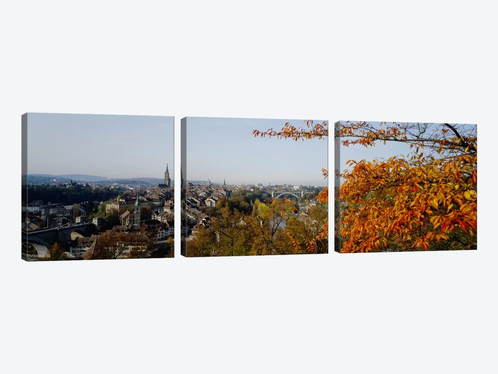 High angle view of buildings, Berne Canton, Switzerland by Panoramic Images 3-piece Canvas Art