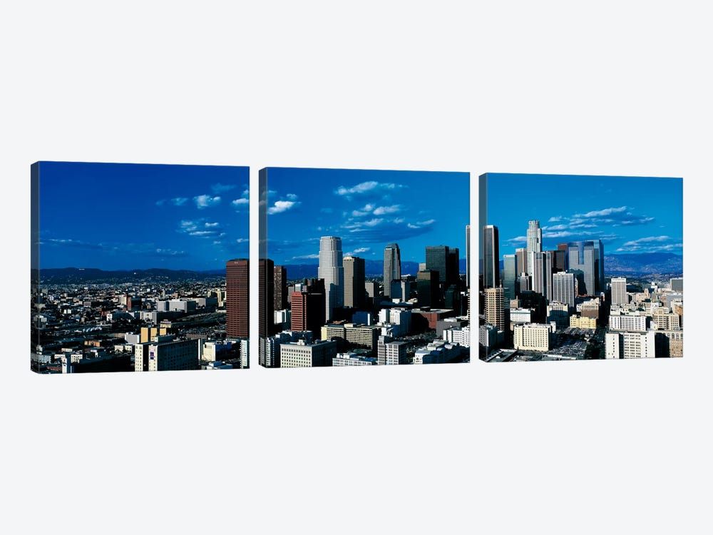 Skyline from TransAmerica Center Los Angeles CA USA by Panoramic Images 3-piece Canvas Print