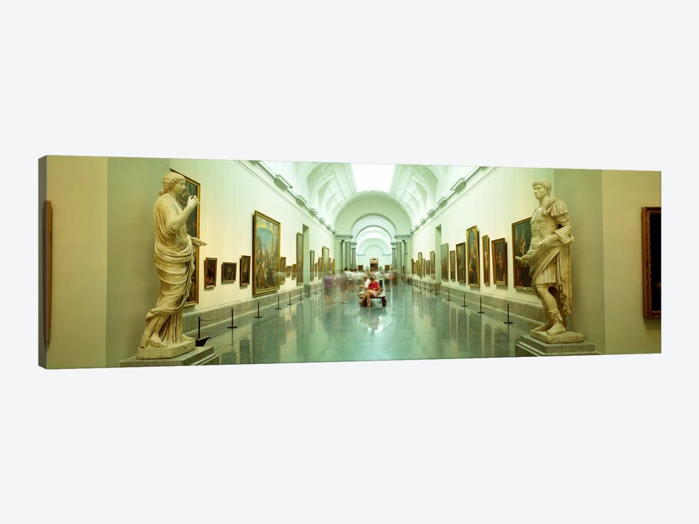 Main Exhibition Hall, Prado Museum, Madrid, Spain by Panoramic Images 1-piece Canvas Print