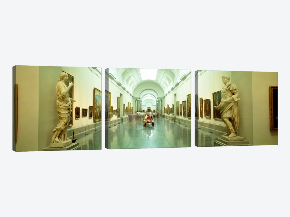 Main Exhibition Hall, Prado Museum, Madrid, Spain by Panoramic Images 3-piece Canvas Print