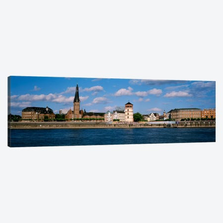 Burgplatz (St. Lambertus, Castle Tower & Josephskapelle), Bank Of The Rhine, Dusseldorf, Germany Canvas Print #PIM2204} by Panoramic Images Canvas Art