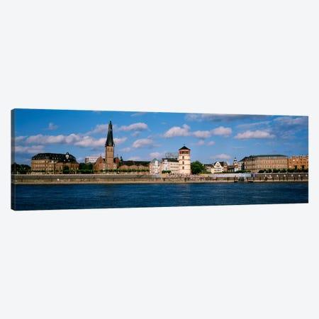 Burgplatz (St. Lambertus, Castle Tower & Josephskapelle), Bank Of The Rhine, Dusseldorf, Germany Canvas Print #PIM2204} by Panoramic Images Canvas Art