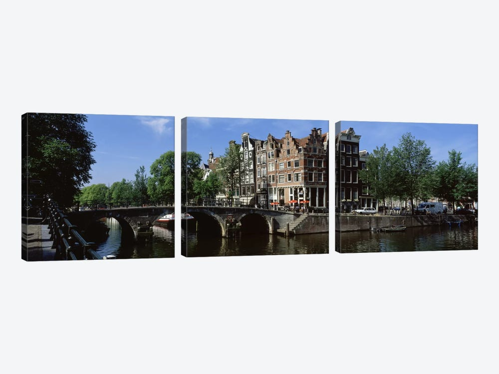 Lekkeresluis (Great Bridge), Jordaan, Amsterdam, Netherlands by Panoramic Images 3-piece Canvas Art
