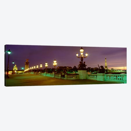 Pont Alexandre III, Paris, Ile-de-France, France 3-Piece Canvas #PIM2208} by Panoramic Images Canvas Art Print