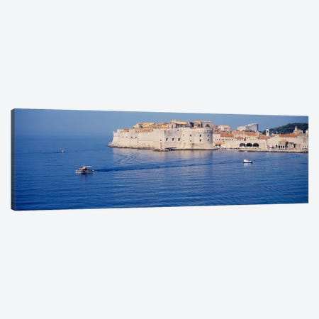 Two boats in the sea, Dubrovnik, Croatia Canvas Print #PIM2211} by Panoramic Images Canvas Art