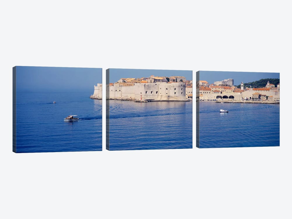 Two boats in the sea, Dubrovnik, Croatia by Panoramic Images 3-piece Canvas Art Print