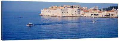 Two boats in the sea, Dubrovnik, Croatia Canvas Art Print