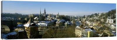High angle view of a city, Berne, Switzerland Canvas Print #PIM2216