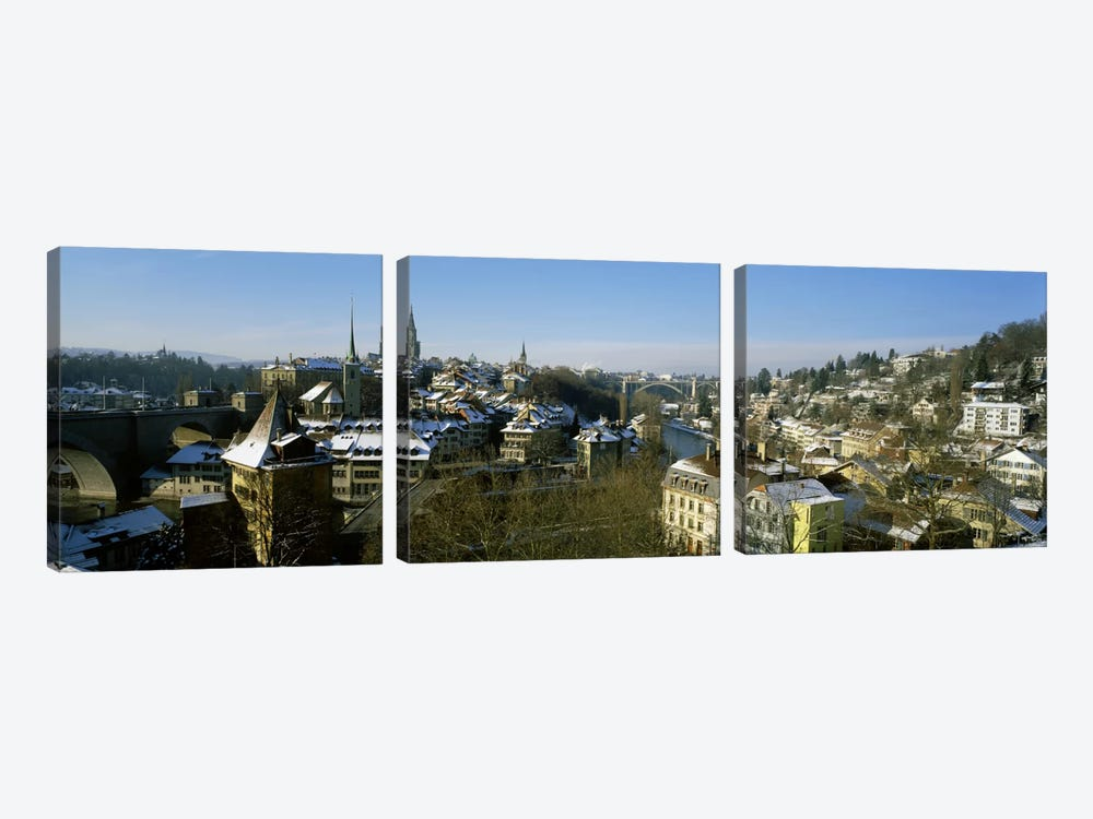 High angle view of a city, Berne, Switzerland by Panoramic Images 3-piece Canvas Art