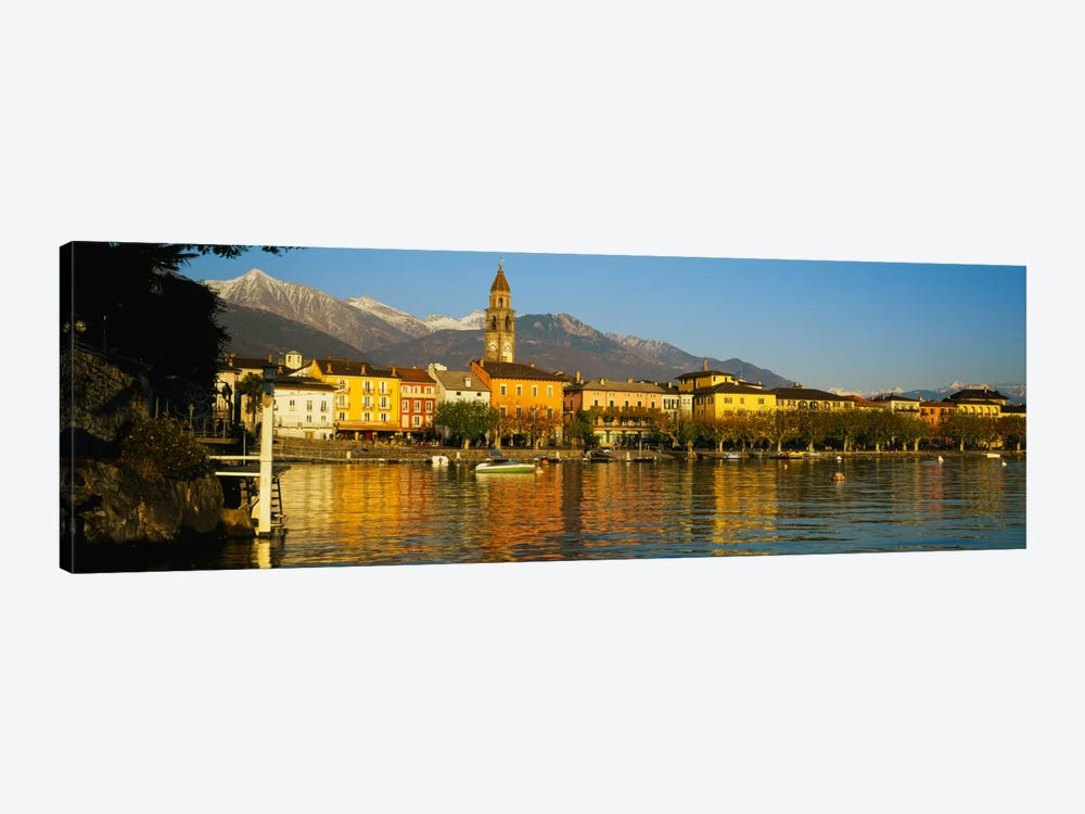 Town At The Waterfront, Ascona, Ticino, Switzerland 1-piece Canvas Wall Art